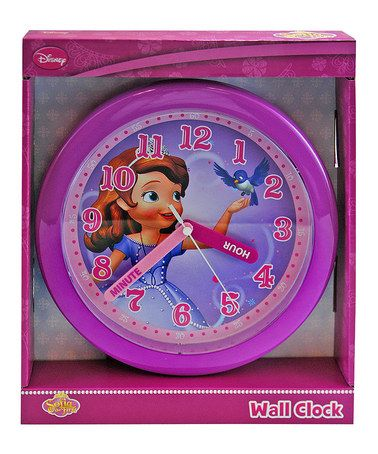 Another great find on #zulily! Sofia the First Round Wall Clock by Sofia the First #zulilyfinds