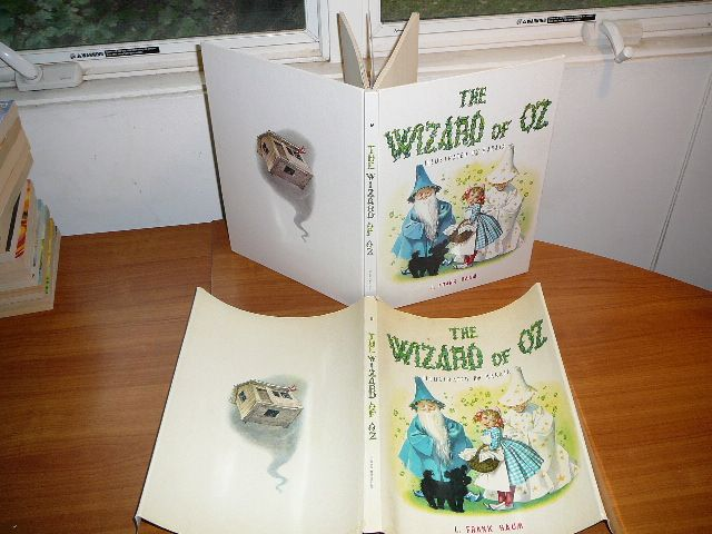 The Wizard of OZ. Illustrated by Maraja. Large hardcover with dj. c1957.  Sold…