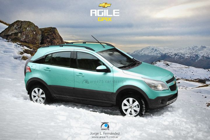 Chevrolet Agile crossover, con la mira en el VW CrossFox, Fiat Palio Adventure y Ford EcoSport. ¿Se llamará GPiX?