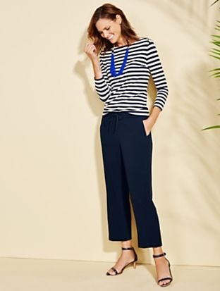 Talbots - Boat-Stripes Button-Shoulder Tee | | Woman Petites Discover your new look at Talbots. Shop our Boat-Stripes Button-Shoulder Tee for stylish clothing and accessories with a modern twist at Talbots