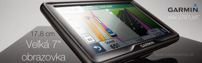 """Garmin nuvi 2797LMT - GPS navigácia s veľkým 7"""" displejom (17,8cm) s rozlíšením 800x480 bodov, Bluetooth Handsfree, Smartphone Link pre prepojenie s iPhone a Android. Doživotná aktualizácia máp a dopravné správy RDS TMC aj pre Slovensko Slovakia Traffic"""