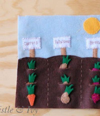 Vegetable Garden Quiet Book Template-so many ideas