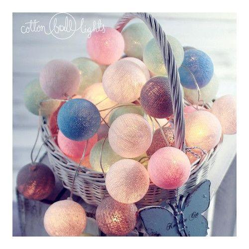 Cotton Ball Lights - Świetlna girlanda CzaryMaryś 50 kul - sprawdź na myhome.pl
