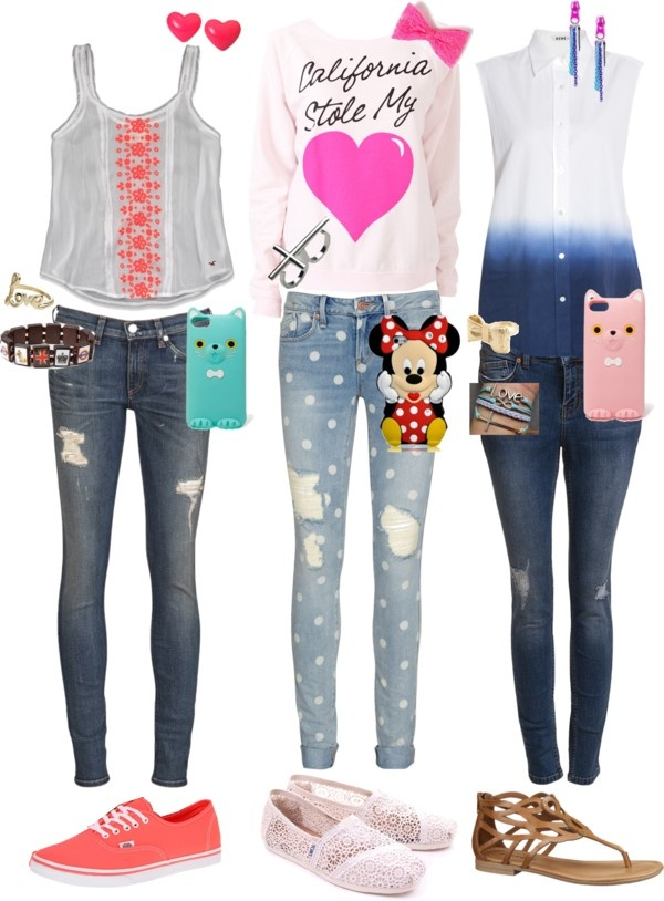 U0026quot;3 Cute Outfits With Skinny Jeansu0026quot; By Annahoyt Liked On Polyvore | Fashion | Pinterest | The O ...