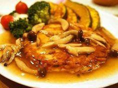 きのこあんかけの豆腐ハンバーグの画像