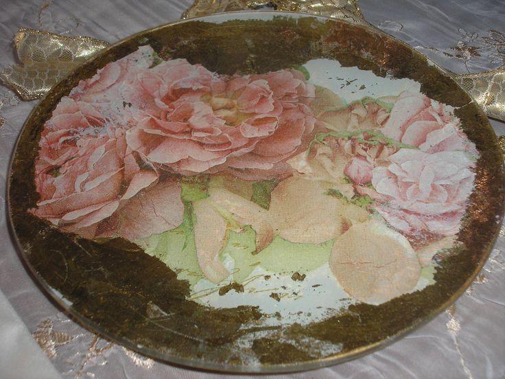#decoupage #plate #Stella #ντεκουπάζ #πιάτο