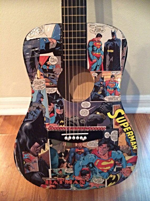 Unique Batman Vs Superman Bedroom Ideas That Rock: 34 Best Batman Guitar Images On Pinterest