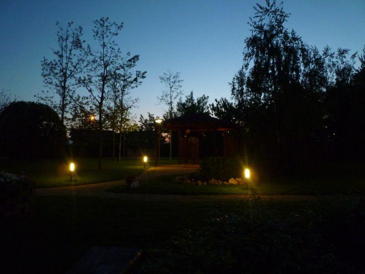 Il giardino dopo il tramonto!!!
