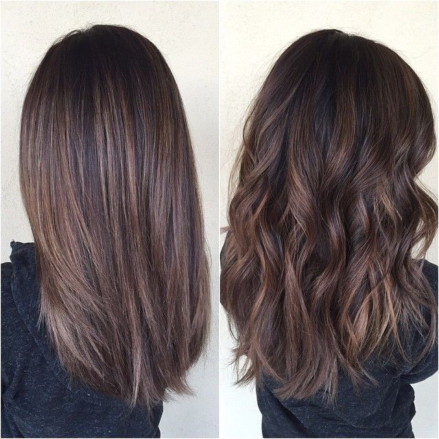 """""""Balayage on virgin hair is my favorite!  love it straight and curled! ✨…"""
