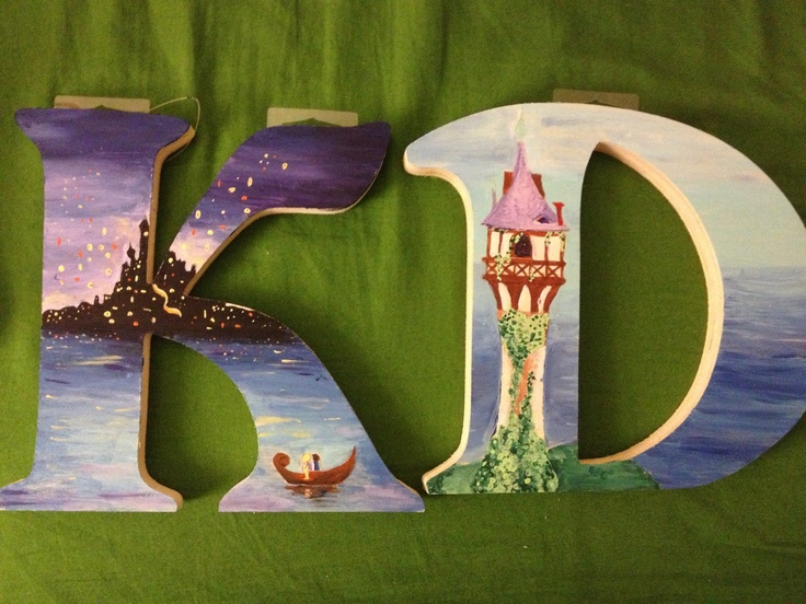 Rapunzel kappa delta letters i just finished painting #KappaDelta #Tangled #Rapunzel