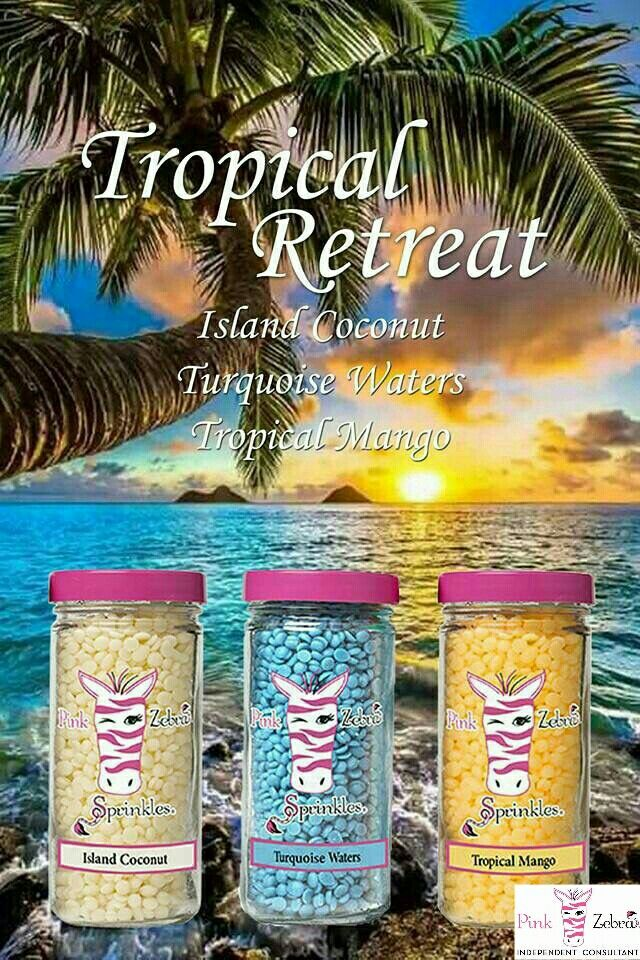 You can be on a tropical vacation anytime you want with this mixing of Pink Zebra Sprinkles.  www.pinkzebrahome.com/pattyanderson