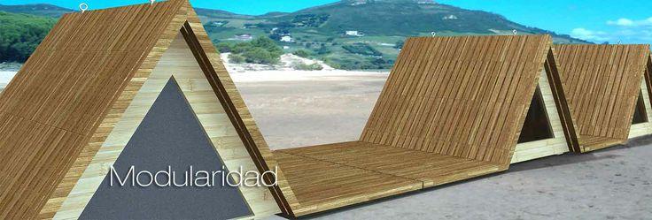 Bungalows de madera para playa y montaña #arquitectura #bungalows #madera