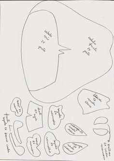 Kawaii Feltros   Artigos em Feltro: Yuri - Meu Amigãozão