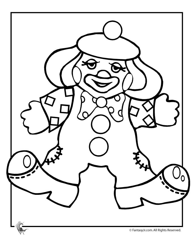 Doll Clown Coloring Page