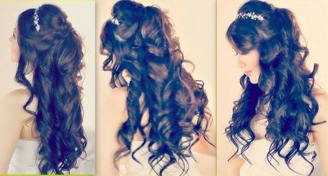 Stunning Half Up Prom Hair. See the step by step instructions here! #halfuppromhair