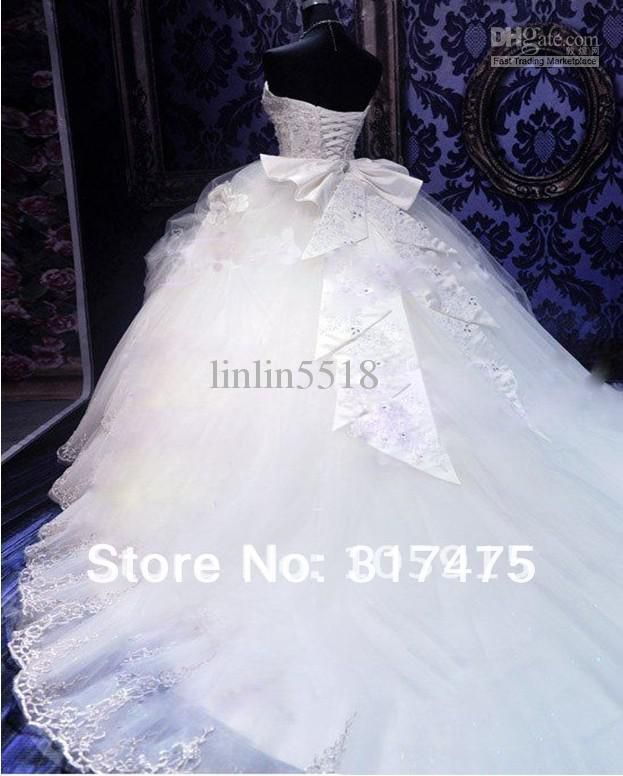 Elegant Organza Sweetheart Neckline Basque Waistline Ball Gown Wedding Dress With Embroidery Rhinestones