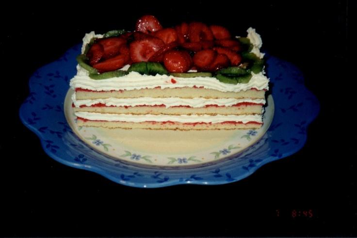Strawberry Torte Cake Pampered Chef