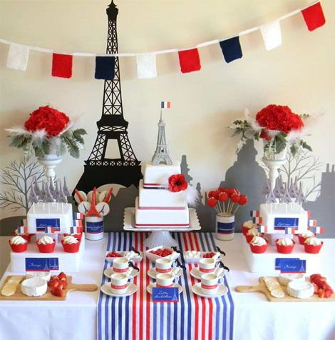 Cute idea for a bridal shower/bachelorette party. Parisian Party!
