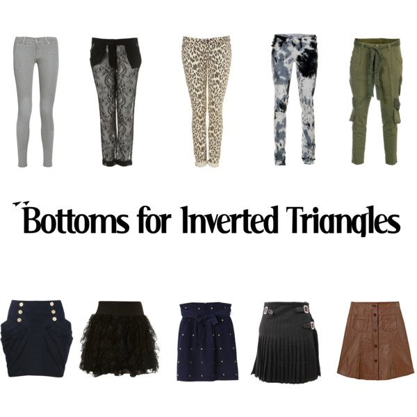 Bottoms for Inverted Triangles by kittyfantastica on Polyvore
