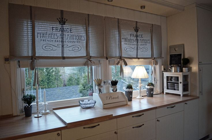 Kitchen curtains idea for diy whitewashed cottage chippy shabby chic french country rustic - Country kitchen curtain ideas ...