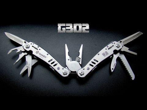 Ganzo G302-H 12 in 1 Multi-function Folding Pliers  -  SILVER