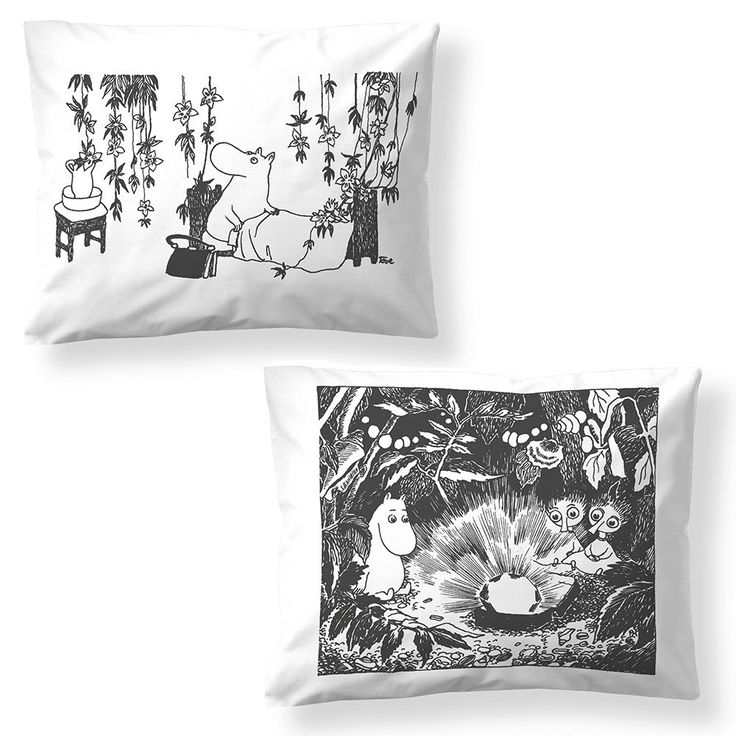 Finn Family Moomintroll pillow cover 2-pack by Finlayson - The Official Moomin Shop  - 1