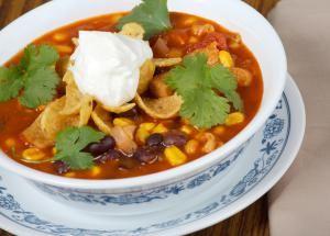 7 Easy Vegetarian Crockpot Soup Recipes: Vegetarian Taco Soup (With Vegan Option)