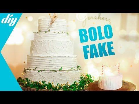 Bolo fake de MASSA CORRIDA | DIY - YouTube
