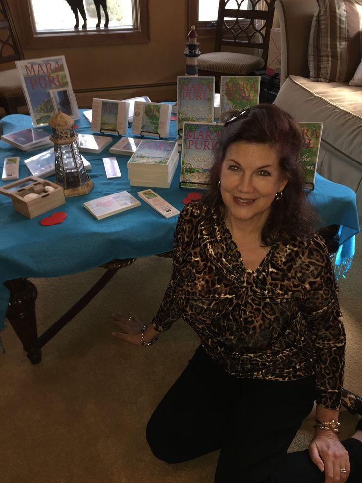 Author U Autumn Tea 2016 (b) Mara Purl with her Milford-Haven Novels
