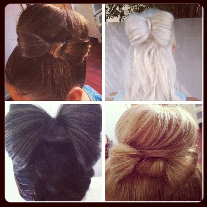 It's a BOW of a day! happy Saturday.  Miss Bliss Xx  All hair styles by kristy from Miss Bliss Hair Boutique.