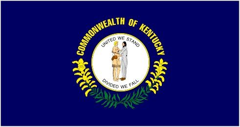 state Of Kentucky Flag And Map Coloring Pages