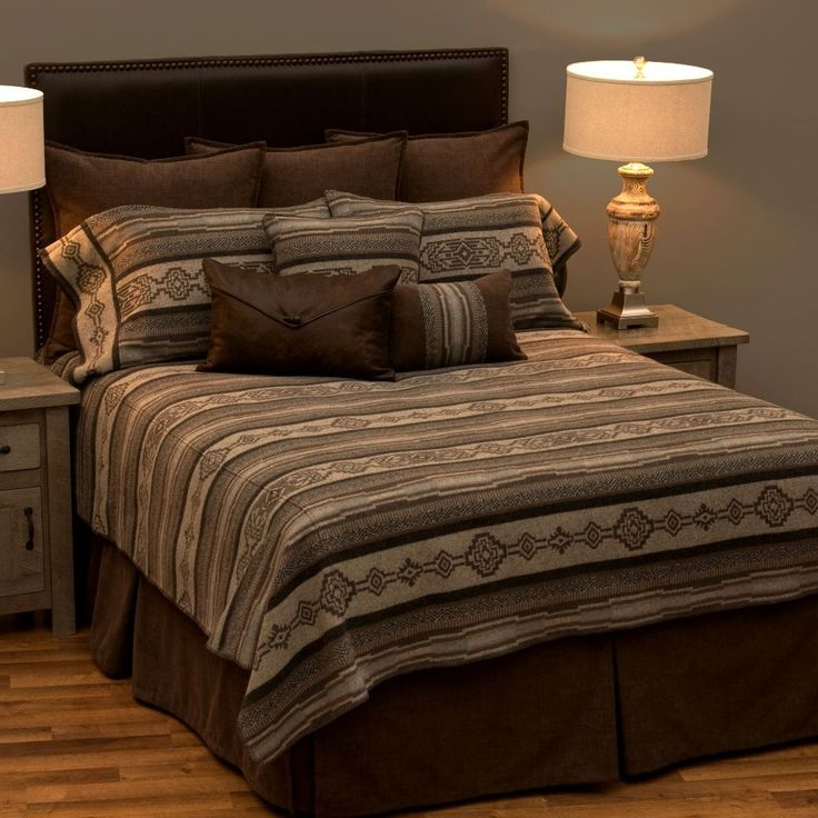 The Lodge Lux Southwestern DELUXE bed ensemble set is a wonderful choice  for the Southwest style ranch bedroom with its geometrical design using  earth tone. 50 best Southwestern Bedrooms images on Pinterest   Southwestern