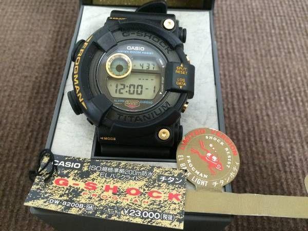 CASIO G-SHOCK Watch Gold Titanium Frogman DW-8200B-9A 1995 Limited Rare Japan #CASIO