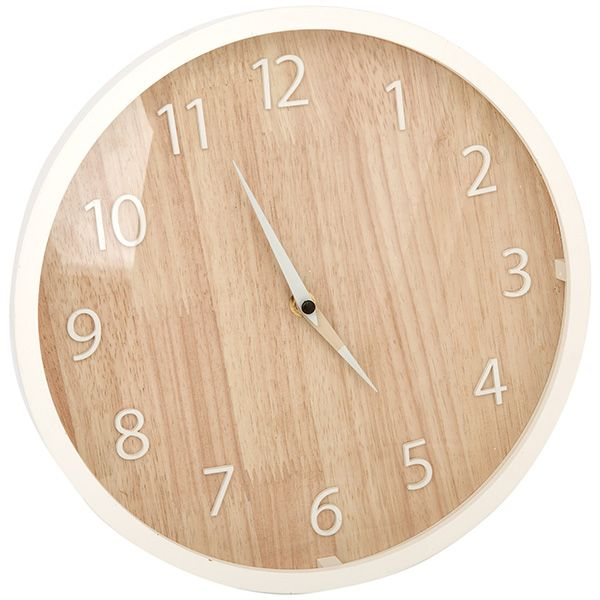 Image for Sainsbury's Home Wooden Clock from Sainsbury's