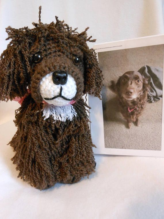 Crochet Labrador/Austrialian Shepard Dog Mix Custom Made to