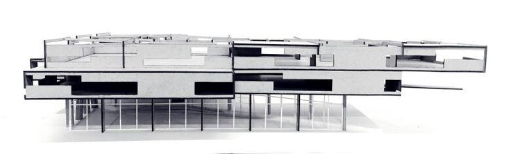Maqueta Centro Automotriz - Recorte Espacial / Alzado Norte