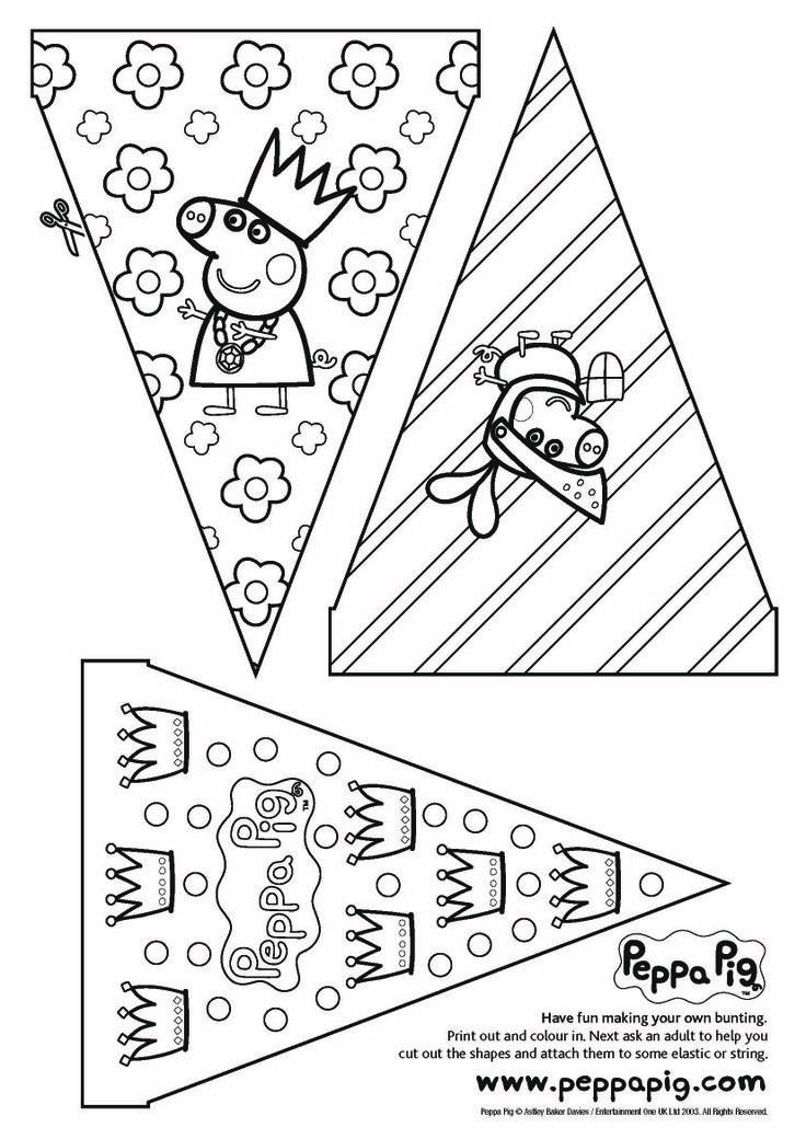 Manualidades para el fin de semana: Banderines de Peppa Pig pintados por tus peques