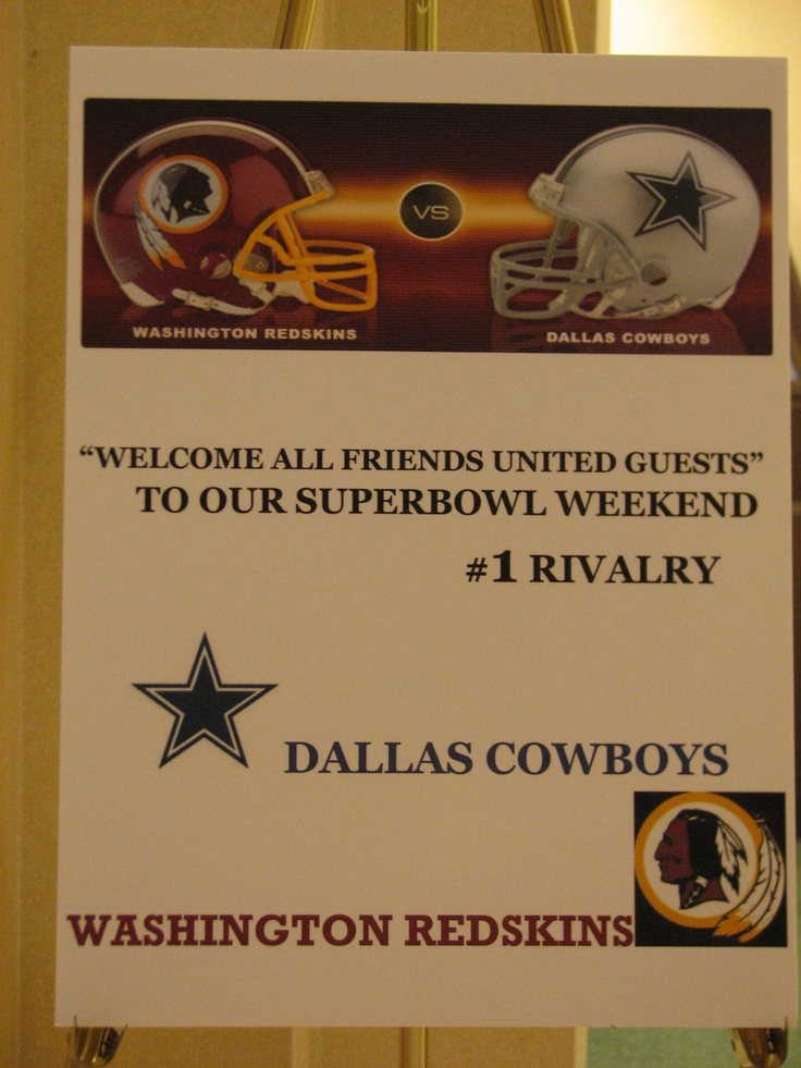 32 best Dallas Cowboys \ Washington Redskins parties images on - best of blueprint party dallas