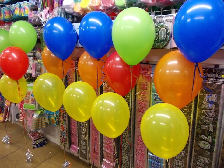 Lovely colourful balloons.