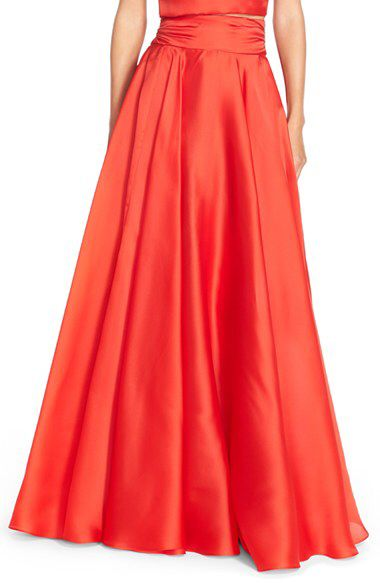 Milly Milly Silk Satin Bow Back Ball Skirt available at #Nordstrom