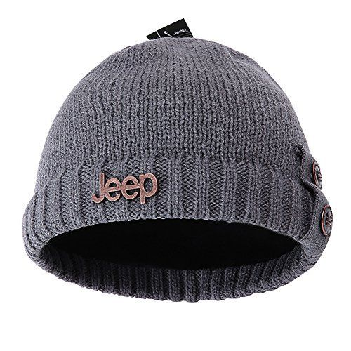 Unisex Knit Oversized Jeep Beanie Cap Hat