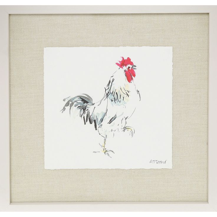 Rooster Painted Wall Art - TK Maxx