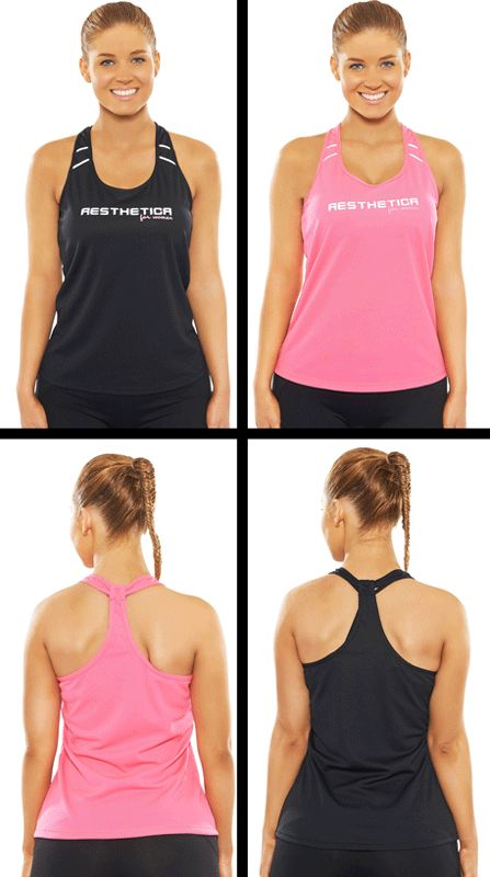 ON SALE!! NOW $34.99!  Premium Training Singlets - Black & Pink. Strong, Sexy yet Fashionable Gym wear!