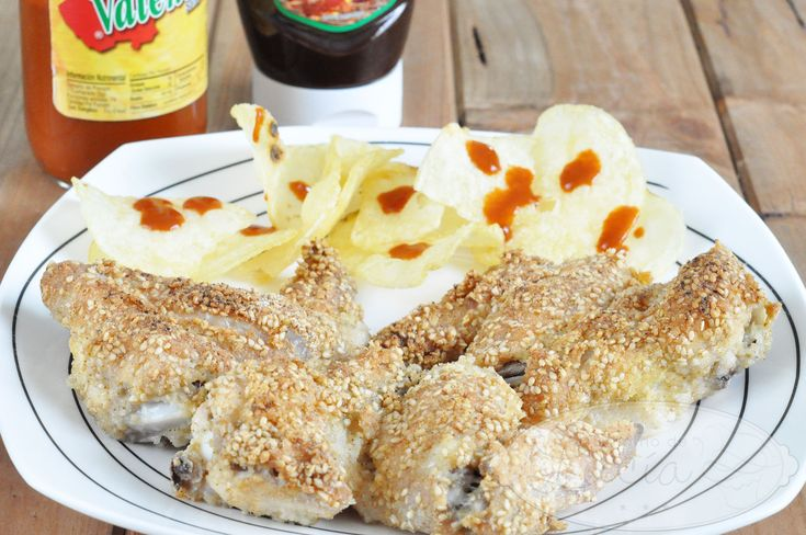 Alitas de pollo rebozadas sin gluten al horno
