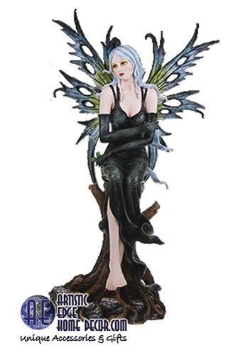 "Divinity Fairy 'Morta' Gothic Fairy sitting 21""H"