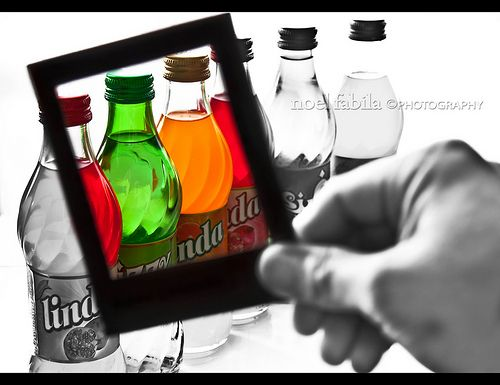 selective colors in a frame