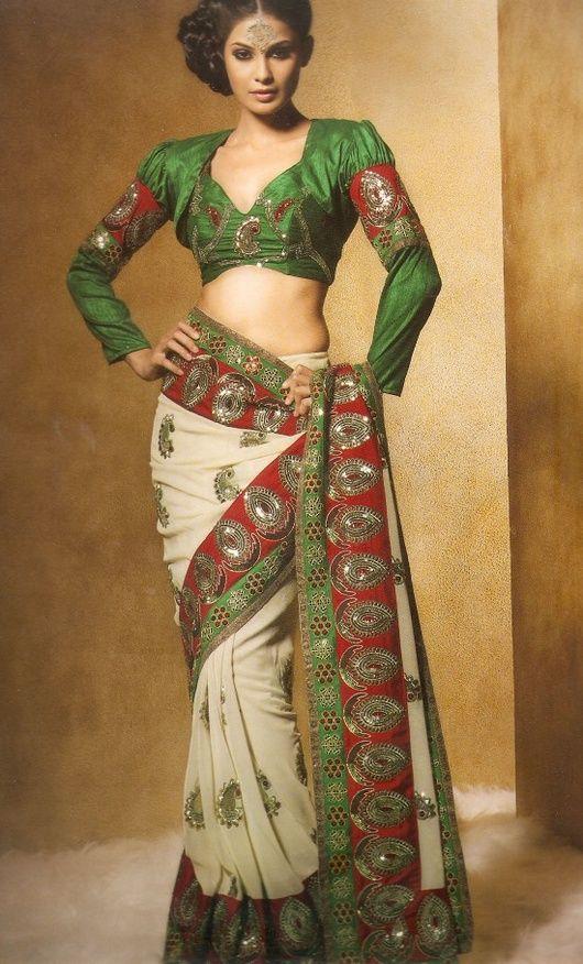 80s Style Saree Blouse