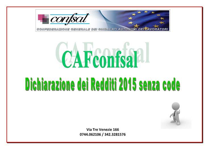 #modello730 #dichiarazionedeiredditi2015 #cafconfsal #terni
