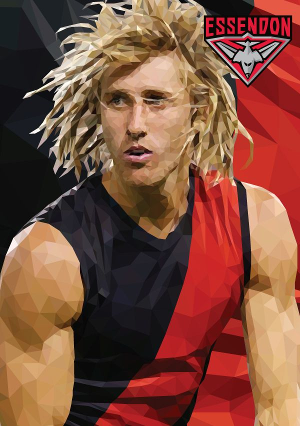 Dyson Heppell Essendon Football Club AFL By Ross McRae Design