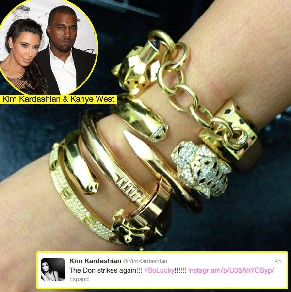 Kanye Gives Kim Kardashian Cartier Bracelets Worth 65k If I Ever Win The Lottery Jewelry Bracelet